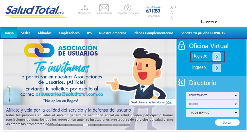 formulario de afiliacion de salud total